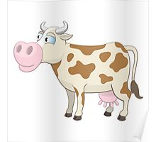 Friendly cartoon cow Poster