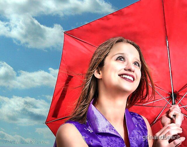 Red Umbrella by grinandbearit
