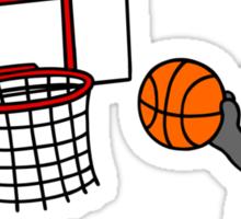 wolfpupy basketball Sticker