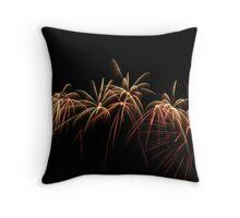 Firework Palm Trees Throw Pillow