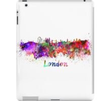 London skyline in watercolor iPad Case/Skin