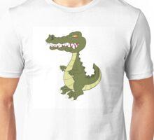 Funny cartoon crocodile Unisex T-Shirt