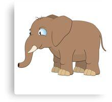 Cute cartoon baby elephant Canvas Print