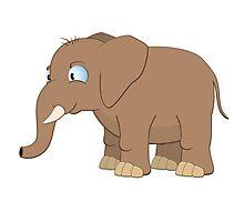 Cute cartoon baby elephant Photographic Print
