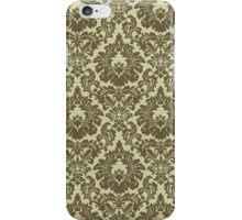 French Provincal Fleur De Lis in Olive iPhone Case/Skin