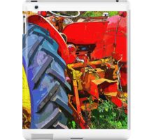Abandoned rusty old tractor iPad Case/Skin