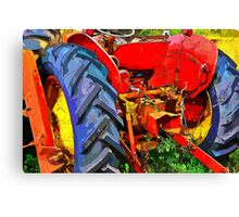 Abandoned rusty old tractor Canvas Print