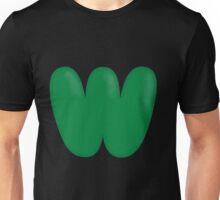 Glitch Overlay letter W overlay Unisex T-Shirt