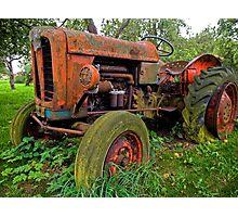 Old vintage tractor digital art Photographic Print