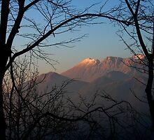 Krn Mountain Range by Rok Cuder