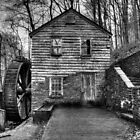 The Rice Gristmill (HDR) B&W by photodug