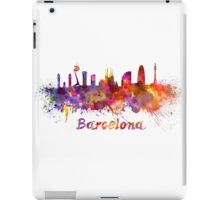 Barcelona skyline in watercolor iPad Case/Skin