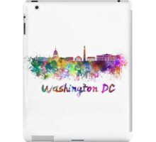 Washington DC skyline in watercolor iPad Case/Skin