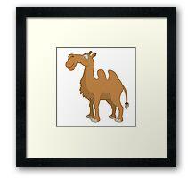 Funny cartoon camel Framed Print