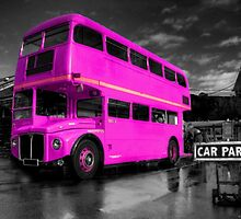 Pink Routemaster  by Rob Hawkins