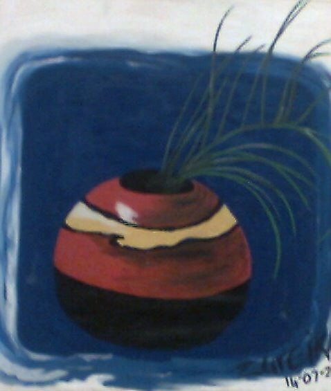 Still life with palmleaves by Teneva