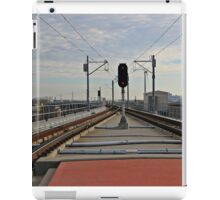 View From NJ Transit's 8th Street Station Bayonne NJ iPad Case/Skin