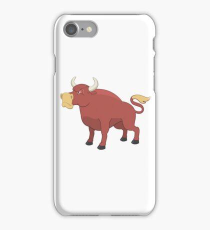 Funny cartoon bull iPhone Case/Skin