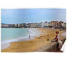 Eyes on the beach - Basque country, France. Poster