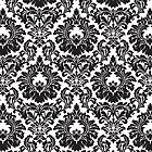 French Provinval Fleur De Lis in classic Black + White by Helen McLean