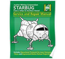 Starbug Service and Repair Manual Poster