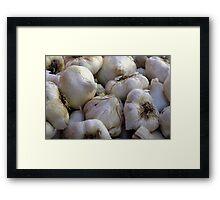 Garlic in the Raw Framed Print