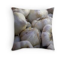Garlic in the Raw Throw Pillow