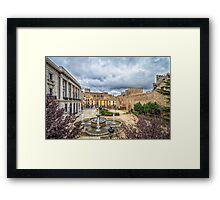 San  Geronimo Street, Avila Framed Print