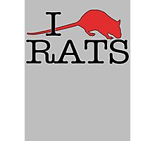 I heart rats! Photographic Print