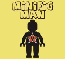 Minifig Man [Black], Customize My Minifig Star Logo Kids Clothes