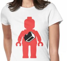 Red Minifig with 1 x 2 Brick Logo, Customize My Minifig Womens Fitted T-Shirt