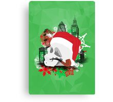 Skull Christmas - Green Mark II Canvas Print
