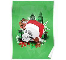 Skull Christmas - Green Mark II Poster