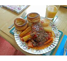 A Yorkshire Pudding Dinner Photographic Print