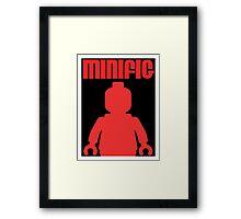 Retro Large Black Minifig, Customize My Minifig Framed Print