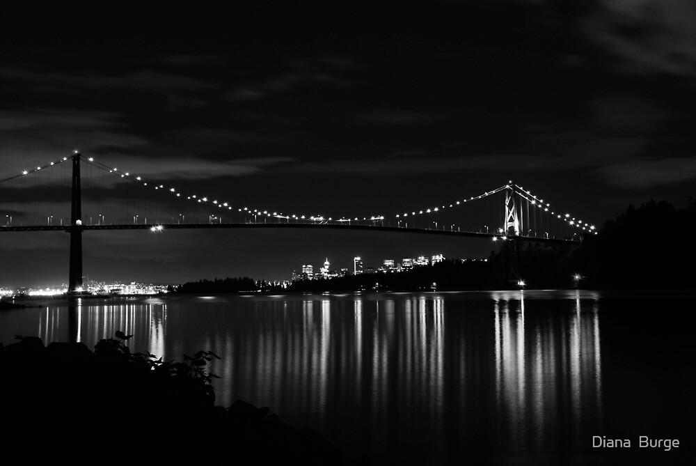 LionsGate Bridge Vancouver by Diana  Burge
