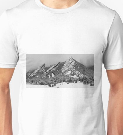 The Flatirons In Winter Dress Unisex T-Shirt