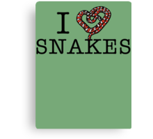 I love snakes! Canvas Print