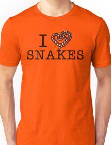 I love snakes! Unisex T-Shirt