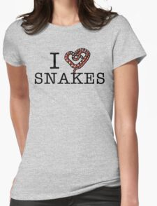 I love snakes! Womens Fitted T-Shirt