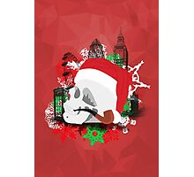 Skull Christmas - Red Mark II Photographic Print