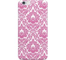 Retro Fleur De Lis Wallpaper Design in Candy Pink iPhone Case/Skin