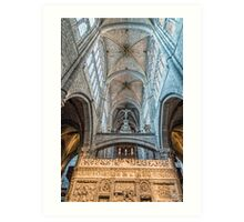 Vaults of Avila Cathedral Art Print