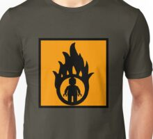 MINIFIG IN FLAME LOGO Unisex T-Shirt