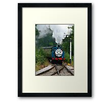 Thomas, Huffing and Puffing up the track Framed Print