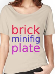 brick minifig plate Women's Relaxed Fit T-Shirt