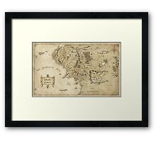 Middle Earth Map Framed Print