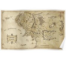 Middle Earth Map Poster