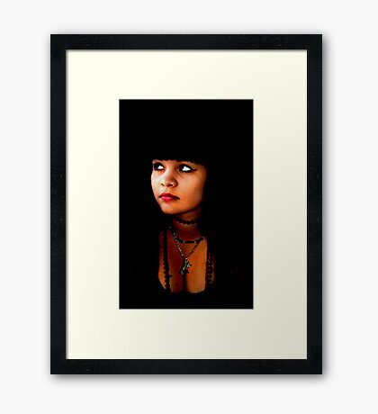"""""""Intuitive Contact"""" Framed Print"""