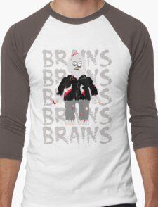 BRAINS BRAINS BRAINS BRAINS BRAINS Men's Baseball ¾ T-Shirt